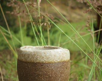 Small glazed stoneware planter