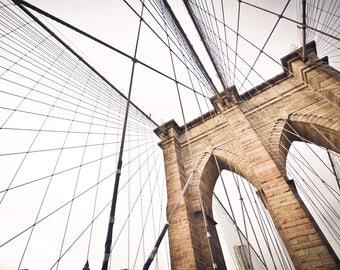 Brooklyn Bridge - Art Print - Brooklyn Bridge, Wall Art, New York art, New York Times Archive Photography
