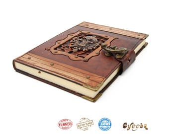 Leather Journal with Skull - Large
