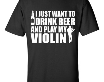 Funny Violin Player T-shirt