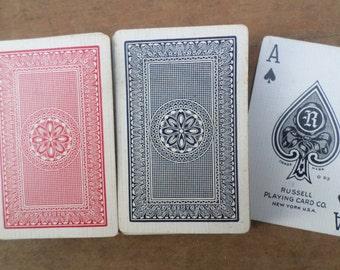 vintage double deck of Playing Cards ANTIQUE BRIDGE