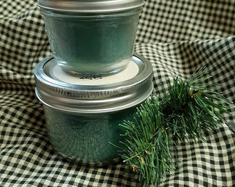 Candle jar mason - balsam fir