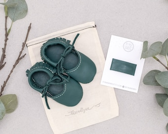 DEEP SPRUCE || mary jane moccasin