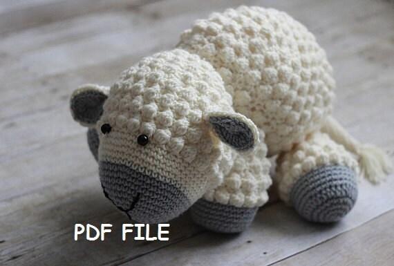 Free Amigurumi Lamb : Crochet pattern stuffed lamb lamb crochet lamb pattern amigurumi