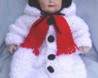 Snowman Baby Bunting Crochet Pattern PDF