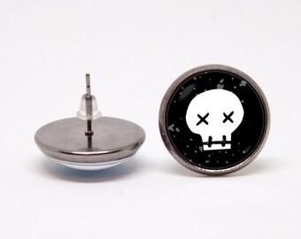 Gothic earrings Sugar skull Earrings Skull jewelry Skull earrings Sugar skull jewelry Skull gift Skull jewellery Day Of The Dead Skull stud