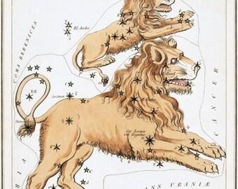 Astronomy, Zodiac constellation, Moon poster, Constellation map, Astrology, Zodiac print, 163