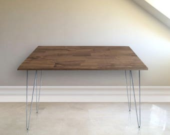 Office Desk with Walnut Stain