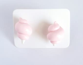 Cotton Candy Earrings Polymer Clay Hypoallergenic Earring Studs