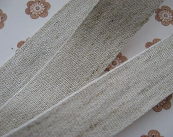 Lovely natural Hemp Cotton mix trim width 19mm PER METRE