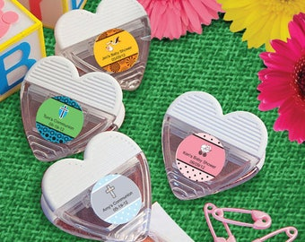 48 Personalized Baby Shower Heart Shaped Memo Clip Favors - Set of 48