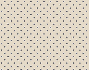 Cream Black Dots fabric, Petit Dots Creme , Les PetitesCollection, Art Gallery Fabrics, Amy Sinibaldi, Nursery fabric, Fabric by the Yard,