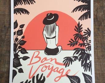 Retro Series: Bon Voyage 8x10 print