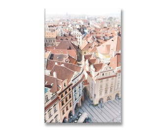 Europe Travel Photo on Canvas, Prague Gallery Wrapped Canvas, Large Wall Art, Home Decor