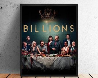 Billions print, Billions poster, show, Billions art, netflix series, props, minimalist art, home wall decor, pipe, tv series, movie posters