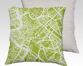 Rome Map Pillow Cover