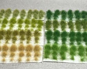 6mm Self-Adhesive Tufts - Grass Sampler Pack - Miniature Basing Material