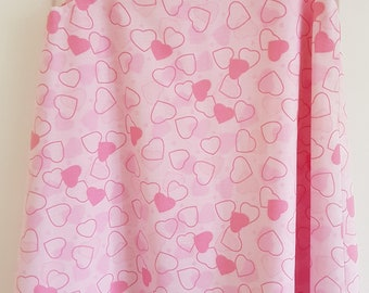 Pink Heart Girls Pinafore Dress Age 3 years