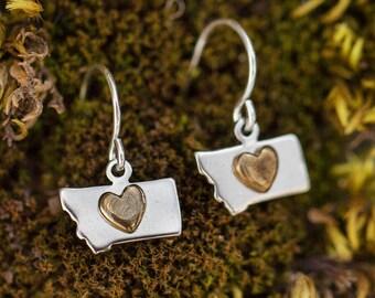 Tiny Montana Love Earrings *Handmade*