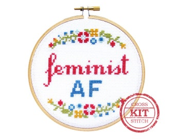 Feminist AF DIY Cross Stitch Kit