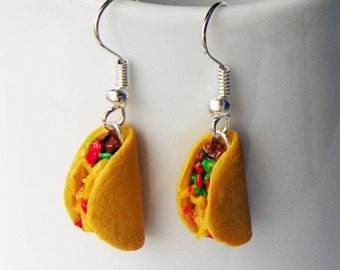 Handmade Taco Earrings