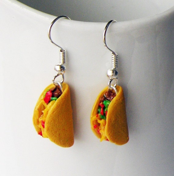 Handmade Taco Earrings