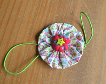 Planner band, Fabric yoyo bookmark, floral elastic bookmark, handmade paisley elastic band, gift for teacher, planner acessory, booklover