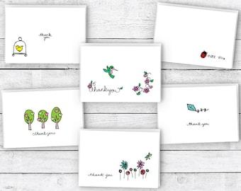 Thank You Cards Spring Collection - 24 Cards & Envelopes