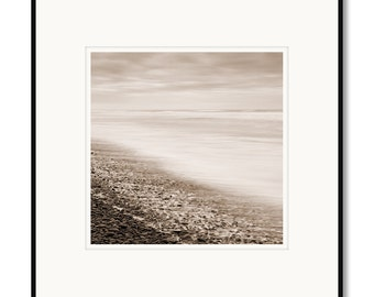 Oceans Breath, Falcon Cove, Oregon, photography, black and white, sepia warm tone, framed photo by Adrian Davis, limited edition photo
