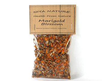 10 gr. Free / 30 gr. Marigold Blossom, Organic Tagetes, Dried, Non-GMO Herbs, Aromatic Loose Tea Herb, Tea, Organic, Herb, Tagetes Flowers