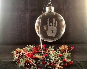 Grateful Dead Glass Christmas Ornament Jerry Garcia Hand Etched