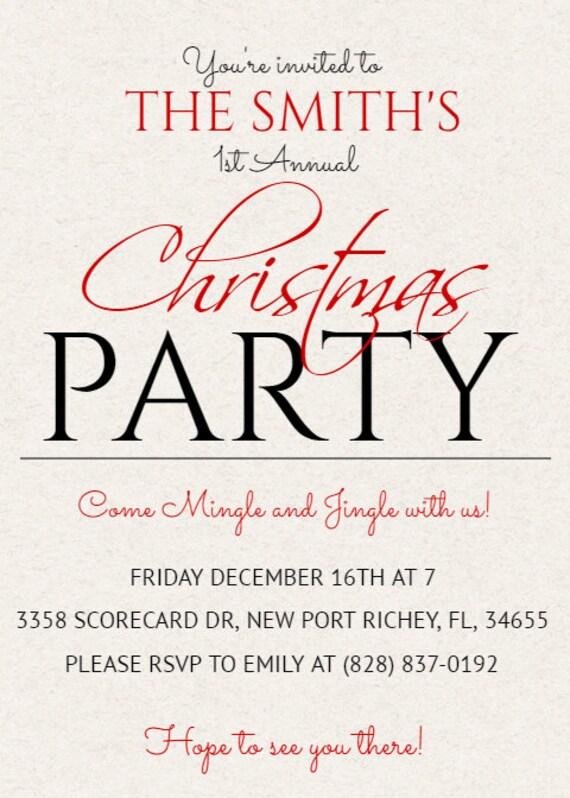 Weihnachtsferien-Party Einladungen