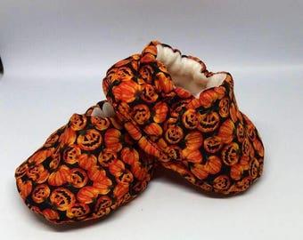 Soft Baby Shoes - Pumpkins