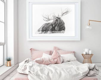 Large scale Moose print