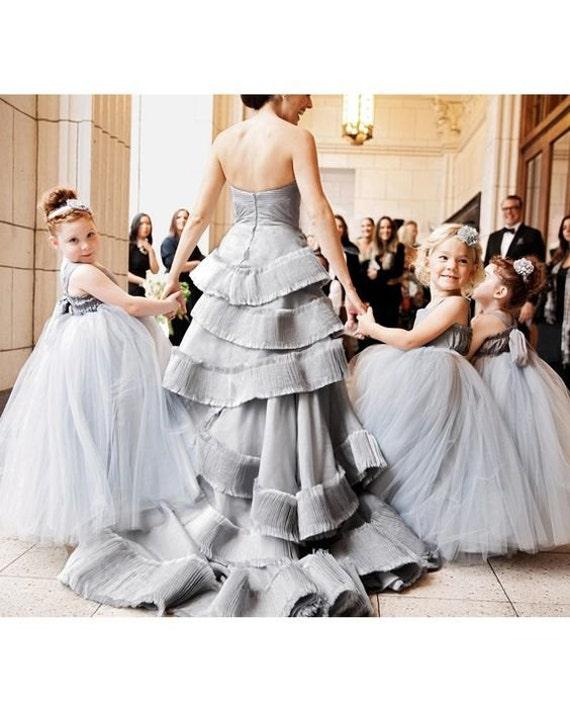 Flower Girl Dress Floor Length Seen on Martha Stewart