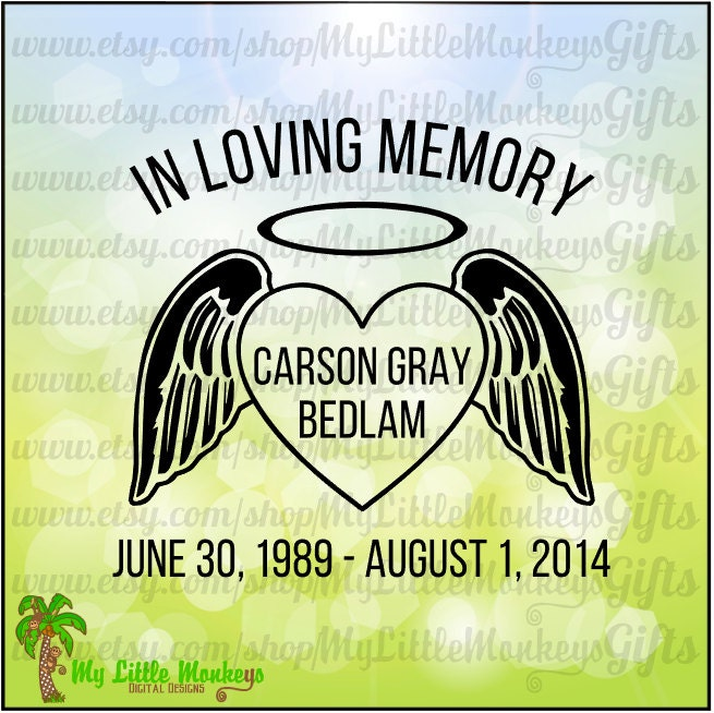 in loving memory memorial decal car decal memorial, Powerpoint templates