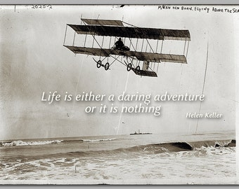 GRADUATION CARD - Life is a daring adventure - Historic  Photograph - Available as a Print or a Quote Block - Great gift (CPIC2013043)