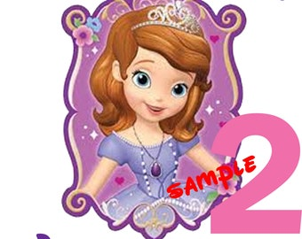 Personalized Sofia the First Birthday Shirt Add Name & AGE GIFT FAVORS, Birthday Shirt