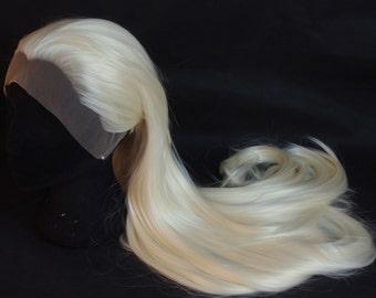 Platinum blonde lace front wig