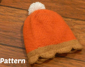 Pumpkin Pie Hat Knitting Pattern  :  Baby Hat, Tolddler Hat, Child Hat, Knitting Gifts, DIY Gifts, Holiday Hat