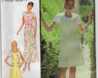 Top And Skirt Size 6 8 10 12 14 16 Blouse Or Shirt Sewing Pattern 1995 Easy To Sew Style 2714 Plus Size