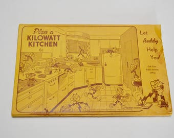 Vintage Reddy Kilowatt Cookbook: Reddy Presents Tasty, Tested Recipes for Your Electric Range by Southwestern Public Service Company
