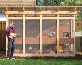 The Garden Loft Large Walk-In Chicken Coop Plan eBook (PDF) – Instant Download, Imperial and Metric Units (Feet/Inches and MM)