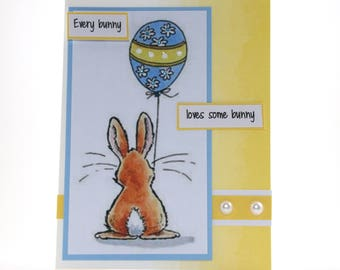 Easter Bunny Easter Card - Happy Easter Card -  Easter Bunny Card