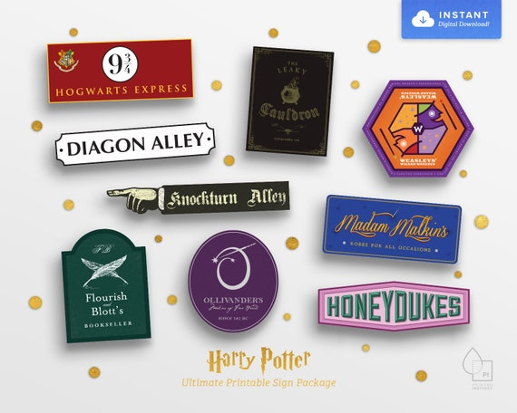 photo relating to Harry Potter Printable Signs identified as Harry Potter Printable Retailer Signs and symptoms Billy Knight
