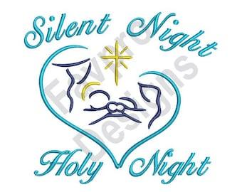 Silent Night Holy Night - Machine Embroidery Design