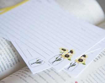 Recipe Cards - Sunflowers