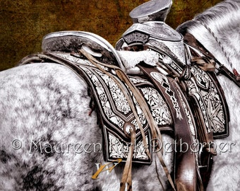Horse art horse decor equine photograph photography horse wall art Mexican decor Andalusian horse black and white photo Southwestern decor