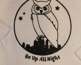 Owl Be Up All Night Onesie