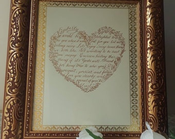 Handwritten letter Custom calligraphy for all occassions